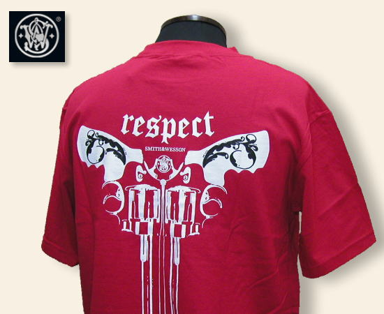 SMITH AND WESSON Tシャツ LC Respect レッド