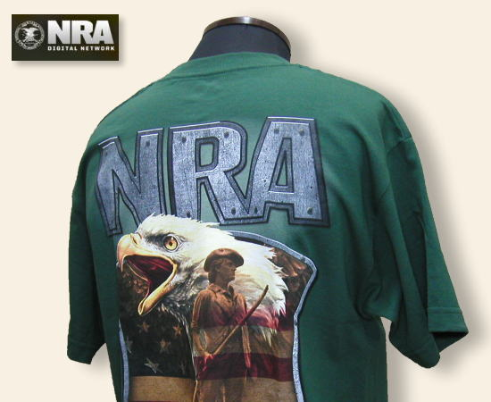 NRA Tシャツ Protecting the Fabric of Freedom グリン