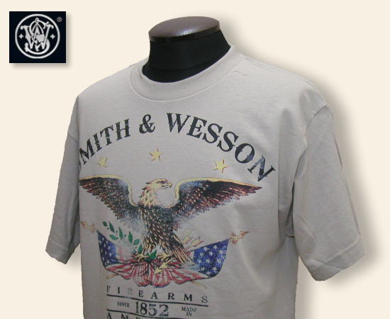 SMITH AND WESSON Tシャツ FIREARMS サンド