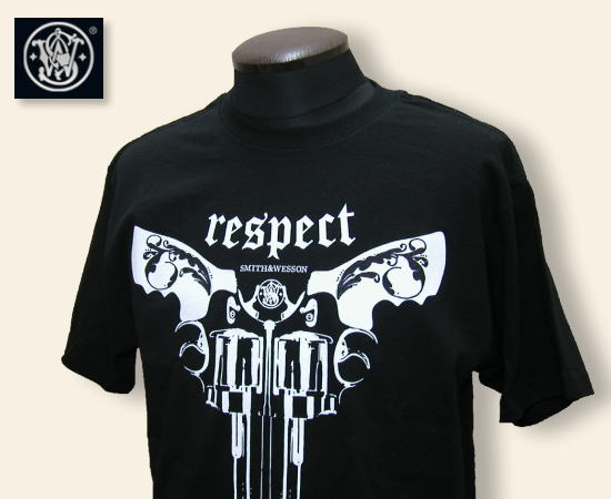 SMITH AND WESSON Tシャツ Respect ブラック